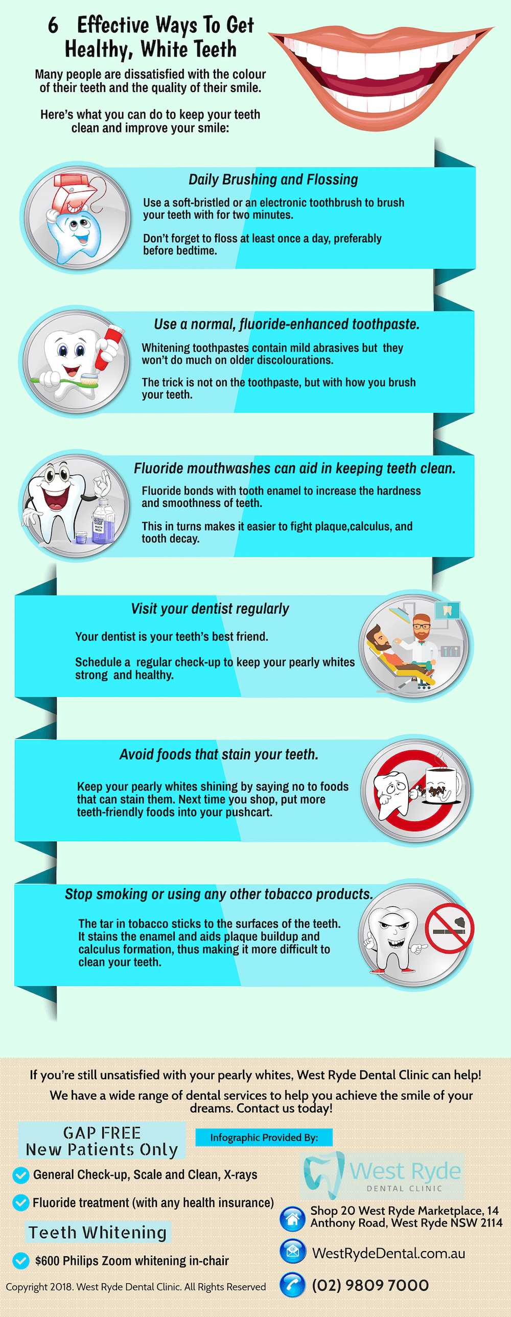 6 Tips To Keep For Healthy White Teeth In West Ryde